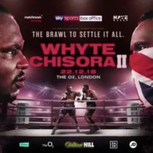 Матч-реванш Диллиана Уайта с Дереком Чисорой будет показан на телеканале «Showtime»