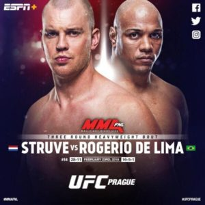 Стефан Штруве сразится с Маркосом Рожерио де Лимой на турнире UFC в Праге
