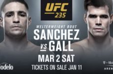 Поединок Диего Санчеса и Микки Галла добавлен в кард турнира UFC 235
