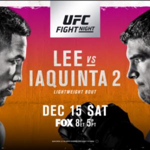 Прямая трансляция UFC on FOX 31: Кевин Ли — Эл Яквинта 2