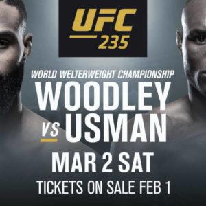 Видео боя Тайрон Вудли — Камару Усман UFC 235