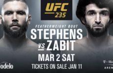 Видео боя Джереми Стивенс — Забит Магомедшарипов UFC 235