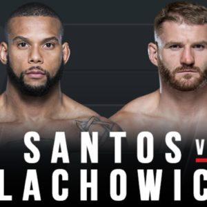 Видео боя Ян Блахович — Тиаго Сантос UFC Fight Night 145