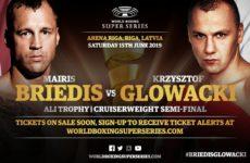Майрис Бриедис и Кшиштоф Гловацки проведет бой 15-го июня в Риге