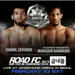Видео боя Шамиль Завуров — Мансур Барнауи Road FC 52