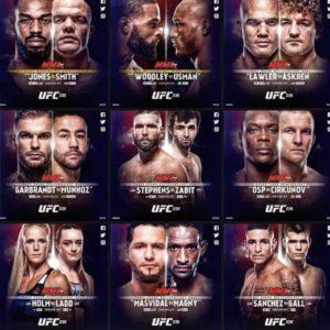 Результаты взвешивания участников турнира UFC 235: Джон Джонс — Энтони Смит