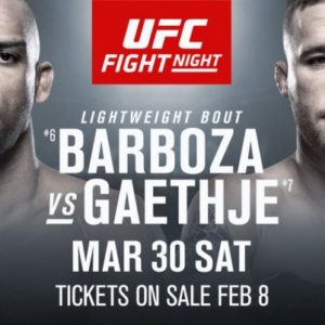 Файткард турнира UFC on ESPN 2: Эдсон Барбоза — Джастин Гэтжи