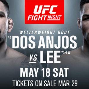 Кевин Ли и Рафаэль Дос Аньос проведут бой на UFC Fight Night 151