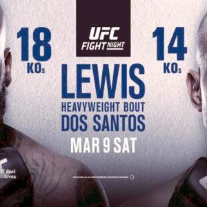 Прямая трансляция UFC Fight Night 146: Деррик Льюис — Джуниор Дос Сантос