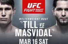 Прямая трансляция UFC Fight Night 147: Даррен Тилл — Хорхе Масвидаль