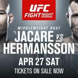 Файткард турнира UFC on ESPN 3: Роналду Соуза — Джек Херманссон, Грег Харди — Дмитрий Смоляков