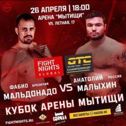 Видео боя Алексей Кудин — Анатолий Малыхин Fight Nights Global 93