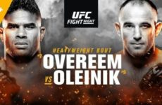 Прямая трансляция UFC Fight Night 149: Алистар Оверим — Алексей Олейник, Махачев — Царукян