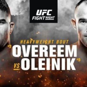 Прямая трансляция UFC Fight Night 149: Алистар Оверим — Алексей Олейник, Махачев - Царукян