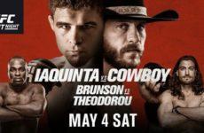 Файткард турнира UFC Fight Night 151: Эл Яквинта — Дональд Серроне