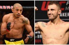 Видео боя Жозе Алдо — Алекс Волкановски UFC 237