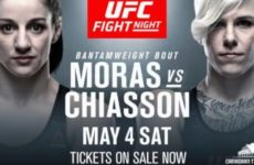 Видео боя Мэйси Чиассон — Сара Морас UFC Fight Night 151