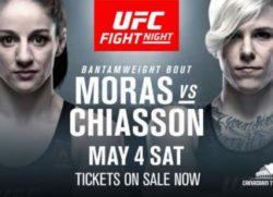 Видео боя Мэйси Чиассон — Сара Морас UFC Fight Night 151