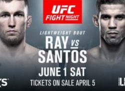 Видео боя Стиви Рэй — Леонардо Сантос UFC Fight Night 153