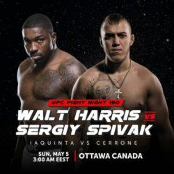 Видео боя Уолт Харрис — Сергей Спивак UFC Fight Night 151