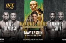 Файткард турнира UFC 237