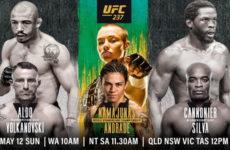 Прямая трансляция UFC 237: Роуз Намаюнас — Джессика Андраде, Андерсон Сильва — Джаред Каннонье