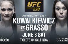 Видео боя Каролина Ковалькевич – Алекса Грассо UFC 238