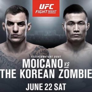 Видео боя Ренато Мойкано — Чен Сон Джон UFC Fight Night 154