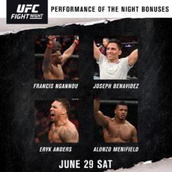 Бонусы турнира UFC Fight Night 155: Фрэнсис Нганну - Джуниор Дос Сантос