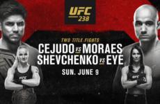 Бонусы турнира UFC 238: Генри Сехудо — Марлон Мораес, Валентина Шевченко — Джессика Ай