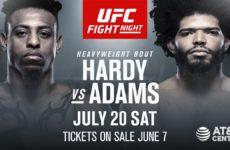 Видео боя Грэг Харди — Хуан Адамс UFC on ESPN 4