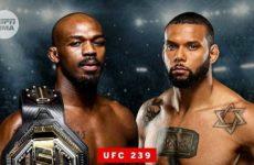 Видео боя Джон Джонс — Тиаго Сантос UFC 239