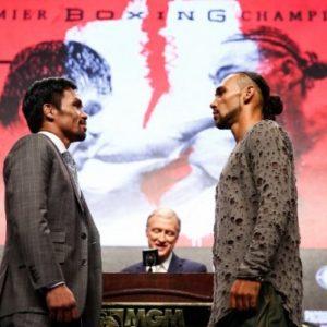 Результаты официального взвешивания вечера бокса между Мэнни Пакьяо и Китом Турманом