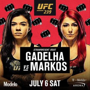 Видео боя Клаудиа Гаделья — Ранда Маркос UFC 239