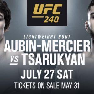 Видео боя Оливье Обин-Мерсье – Арман Царукян UFC 240