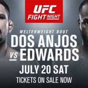 Видео боя Рафаэль Дос Аньос — Леон Эдвардс UFC on ESPN 4