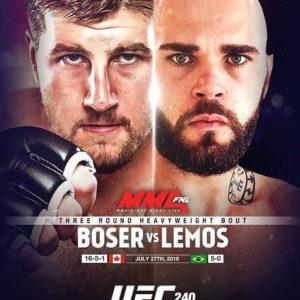 Видео боя Таннер Босер – Джакомо Лемос UFC 240