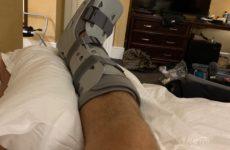 Алексей Олейник сломал ногу в бою с Уолтом Харрисом