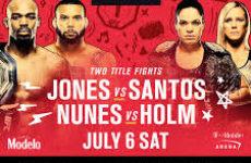 Файткард турнира UFC 239: Джон Джонс — Тиаго Сантос, Аманда Нуньес — Холли Холм
