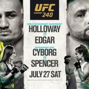 Результаты турнира UFC 240: Макс Холлоуэй — Фрэнки Эдгар