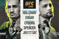 Прямая трансляция UFC 240: Макс Холлоуэй – Фрэнки Эдгар, Крис Сайборг – Филиция Спенсер
