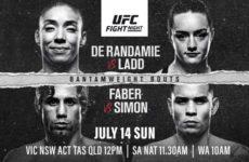 Результаты турнира UFC on ESPN+ 13: Жермейн Де Рандами — Аспен Лэдд, Юрайа Фэйбер — Рики Симон