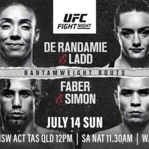 Прямая трансляция UFC Fight Night 155: Жермейн Де Рандами — Аспен Лэдд, Юрайа Фэйбер — Рики Симон