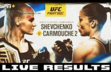 Полные результаты турнира UFC Fight Night 156