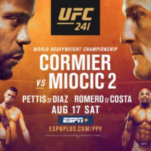 Прямая трансляция UFC 241: Даниэль Кормье — Стипе Миочич, Энтони Петтис — Нейт Диас