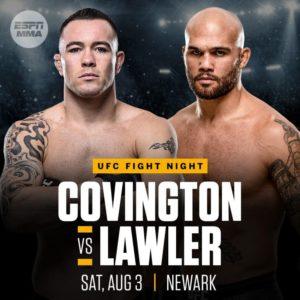 Прямая трансляция UFC on ESPN 5: Колби Ковингтон – Робби Лоулер