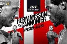 Файткард турнира UFC Fight Night 160: Джек Херманссон — Джаред Каннонье