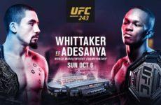 Файткард турнира UFC 243: Роберт Уиттакер — Исраэль Адесанья