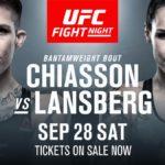 Видео боя Мэйси Чиассон — Лина Лансберг UFC Fight Night 160