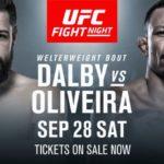 Видео боя Николас Далби — Алекс Оливейра UFC Fight Night 160